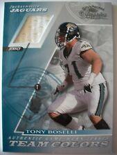 2001 DONRUSS CLASSICS TEAM COLORS TONY BOSELLI , JAGUARS !! BOX 30