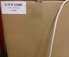 """New listing 1/4"""" x 1200' 100% Cotton Rope Great for Bird Toys"""