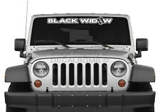"""Black Widow """"outline"""" spider windshield decal sticker rzr diesel race drag vinyl"""