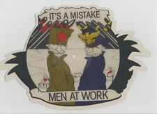 Men At Work-It's A Mistake UK shaped vinyl picture disc.