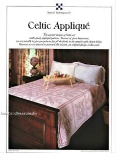 Celtic Hearts  Best Loved  Quilt Pattern w/ Flexible Template