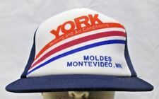 Vtg York Heating and Air Conditioning Snapback Hat Moldes Montevideo Minnesota