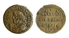 pcc1833_12) Gubbio Pio VI (1774-1799)   Sampietrino 2 Baiocchi e 1/2 1796