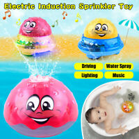 Kid Child Electric Induction Spray Ball Light Bathroom Play Water Bath Toy Xmas