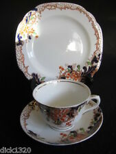 ART DECO DORIC CHINA HAND-PAINTED CHINA #487 CUP/SAUCER/PLATE TRIO c.1920's EX