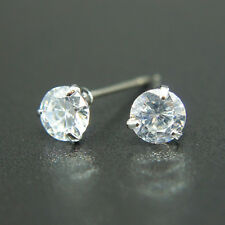 14k Gold plated simulated Diamond cut crystals stud men women solitaire earrings