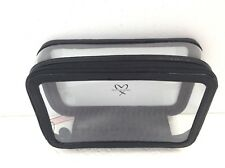 NEW! Victoria Secret Clear Black Metallic Train Case Travel Beauty Cosmetic Bag