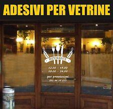 vetrofanie adesivo ristorante con orari food vetrine street trattoria bar