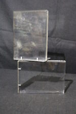 Pair of 2 Vintage 1977 Designer R. LINDAHL DESIGNS Lucite Clear Acrylic Bookends
