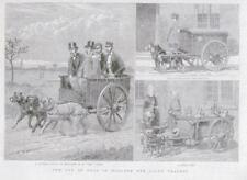 1889 antica stampa-Holland viaggio cani tira latte carrello trasporto Baker (049)