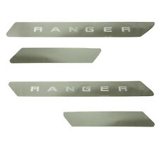 NEW OEM 2019 Ford Ranger Chrome Door Sill Scuff Plate Crew Cab 4 Piece Set