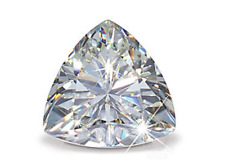 GENUINE Faceted TRILLION CUT Herkimer Diamonds from NY AAA - EYE CLEAN