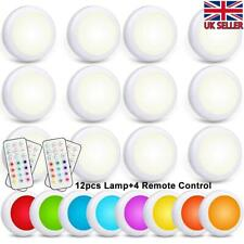 UK LED RGB Wireless Night Light Battery Under Cabinet Stair Lamp Remote Control