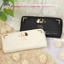 Sailor Moon Cat Luna Pattern Pu Wallet Purse Bag Handbag Cute White Black