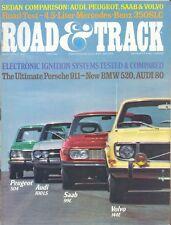 Road & Track Magazine November 1972 Audi, Peugeot, Saab & Volvo, Mercedes 350SLC