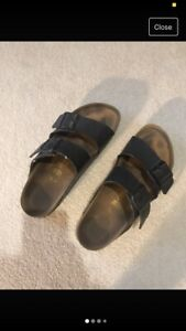 UK Size 5 EU 38 Used Double Strap black Birkenstocks