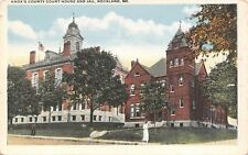 Rockland Maine~Knoxs County Court House and Jail~1920s Postcard