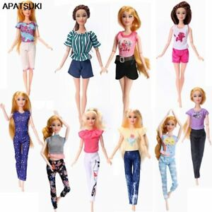 """Fashion Dolls Clothes Set For 11.5"""" Doll Outfits Shirt Tops Shorts Pants 1/6 Toy"""