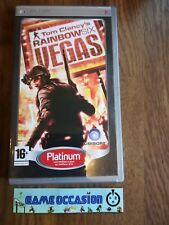 TOM CLANCY ARCOBALENO SIX VEGAS VITI SENZA FINE PLATINO SONY PLAYSTATION PSP PAL