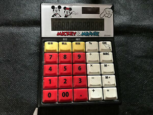 calculator electronic calculatrice solaire MICKEY & MINNIE vintage collection