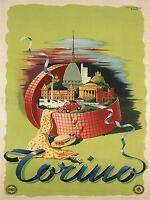 TRAVEL TOURISM SORRENTO ITALY DANCE SEA NAPLES LARGE POSTER ART PRINT BB2870A