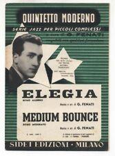 Spartito GIOVANNI FENATI Elegia - Medium bounce 1955 Sheet music Jazz