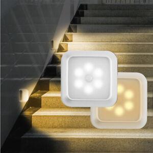 6 LED Motion Sensor Light Wireless PIR Cabinet Stair Lamp Night Lights Battery