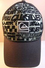 Quicksilver Brown Mesh Snapback Ball Cap Hat Adult