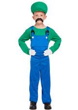 Kids Size Mario Luigi Style Plumber Costume