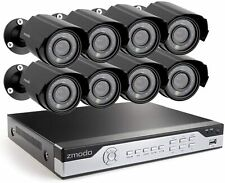 Zmodo 8CH Security Camera System DVR & 8 Cameras with 1TB Hard Drive Renewed