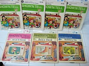 LOT 7= SHOW'N TELL records filmstrips Picturesound General Electric 1964 1965