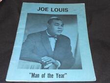 Boxing Joe Louis (d.81) Signed 1971 Man of the Year Awards Program  JSA COA  S14