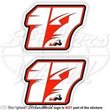 JULES BIANCHI 17 Red Formula 1 F1 75mm Adesivi in Vinile Per Auto x2