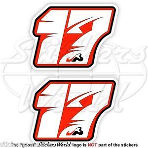 JULES BIANCHI 17 Red Formula 1 F1 75mm Sticker Adesivo Aufkleber Autocollant x2