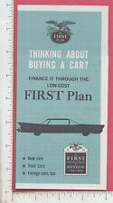 9332 First National Bank of Boston 1959 flier Purchase Letter of Credit car loan
