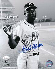 Hank Aaron 755 HR Milwaukee Braves HOF 1982 Signed Auto 8x10 Photo ~ JSA COA