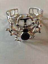 Silvertone Spider Bracelet - Halloween