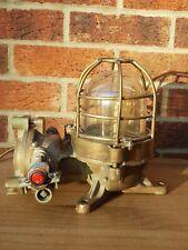 More details for vintage ships bulkhead light - 1980s - made by kokosha, japan - steampunk lamp