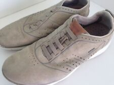 Geox Men's Size 10.5  EU 45 Nebula Beige Round Toe Suede Slip On Shoes Trainers