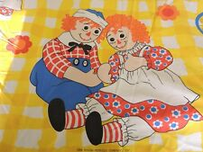 Vintage Raggedy Ann and Andy Twin Size Fitted Sheet The Bobbs Merrill Co Inc USA