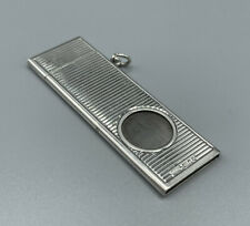 More details for quality ramsden & roed london 1980 hallmarked silver guillotine cigar cutter