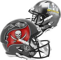Tom Brady TB Buccaneers Super Bowl LV Champs Signed Champs Replica Helmet