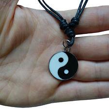 Yin Yang Silver Tone Pendant Chain Necklace Choker Charm Mens Womens Girls Boys