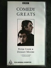 BBC COMEDY GREATS ~ PETER COOK & DUDLEY MOORE ~ RARE VHS VIDEO