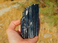 Black Tourmaline Schorl 353g Large Rough Crystal Specimen Silver Mica & Quartz