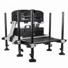JVS Desire Seat Box Station Sitzkiepe Angelsitz Feederbox mit Fußpodest 6 Beine