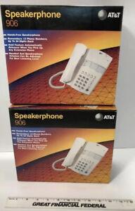 2  - A T & T Model 906 Speakerphones AT&T NEW Open Box Getting 2
