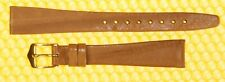 14mm HIRSH Real-Eel Leather Watch Strap Band BROWN <NWoT>