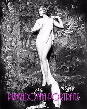 """HAZEL FORBES 8X10 Lab Photo """"ALFRED CHENEY JOHNSTON"""" 1910s ZIEGFELD FOLLIES Nude"""