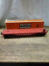 Vintage LIONEL TRAIN 6825 Santa Fe Flat Car O Gauge in Box